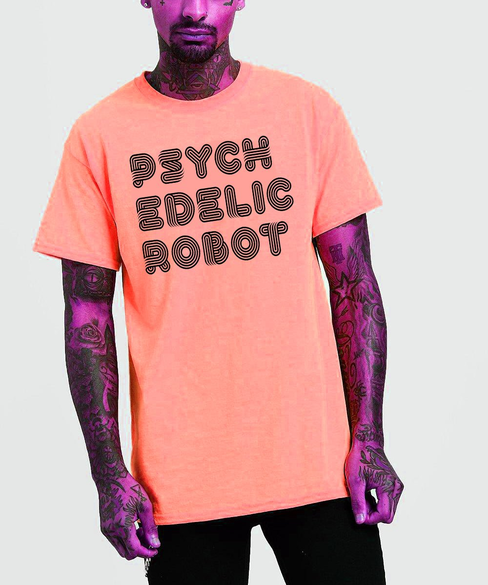 Psychedelic Robot 2.0 Logo T-Shirt