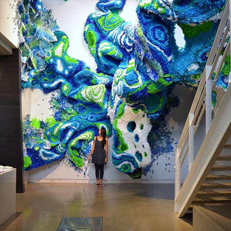 Crystal Wagner Artist - Psychedelic Robot - Interactive Art Gallery