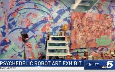 Social Media Buzz Fuels Art Gallery 'Psychedelic Robot'