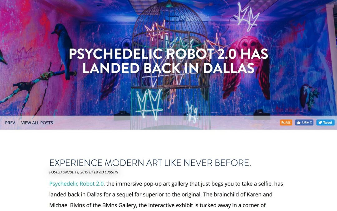 Psychedelic Robot 2.0 Has Landed Back in Dallas